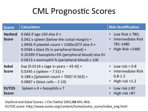 CML Prognostic Scores